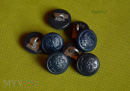 Guziki mundurowe - granatowe - małe