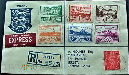 Jersey 1943 - koperta polecona.