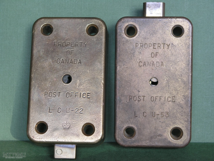 Canada Post Office Mail Box W Historic Padlocks And