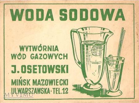 Etykieta Woda Sodowa Osetowski