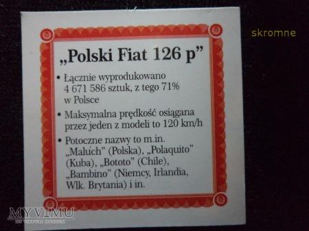 medal FIAT 126p wraz z certyfikatem