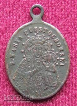 Stary medalik z Częstochowy