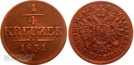 1/4 krajcara 1851 A