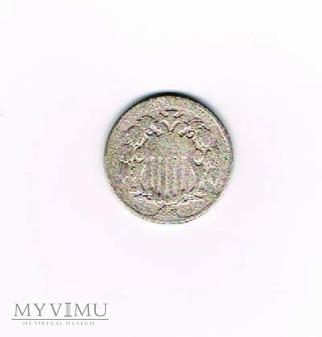 5 centów USA 1868