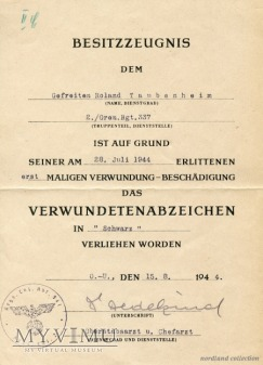 Nadanie do czarnej VWA (Gren.Reg.337)