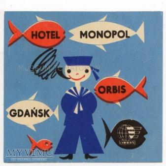 Nalepka hotelowa - Gdańsk - Hotel Monopol