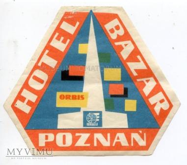 Nalepka hotelowa - Poznań - Hotel Bazar