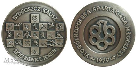 VI Ogólnopol. Spartakiada Młodzieży medal sr. 1979