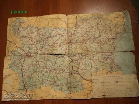 Bułgaria-mapa turystyczna