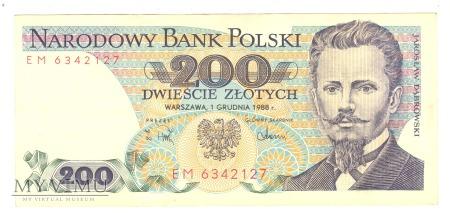 200 złotych PRL 1988