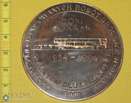 Medal kolejowy - firmowy DOM Gdańsk