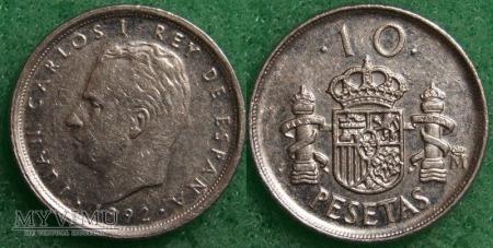 Hiszpania, 10 PESETAS 1992