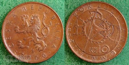 Czechy, 10 Kc 2000
