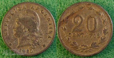 Argentyna, 20 centavos 1920