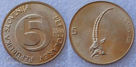 Słowenia, 5 TOLARJEV 2000