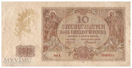 Polska - 10 złotych (1940)