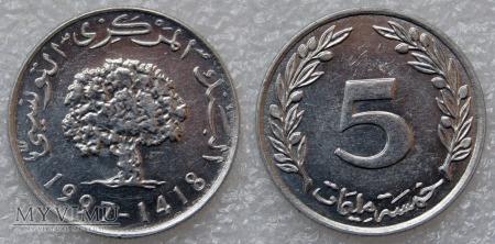 Tunezja, 5 millimes 1997