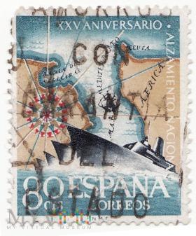 Znaczek XXV Aniversario del Alzamiento Nacional