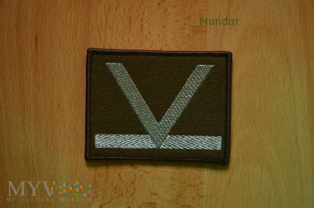 Oznaka stopnia - sierżant sztabowy SG