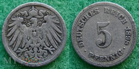 Niemcy, 1898, 5 Pfennig