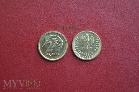 Moneta: 2 grosze od 2014r.