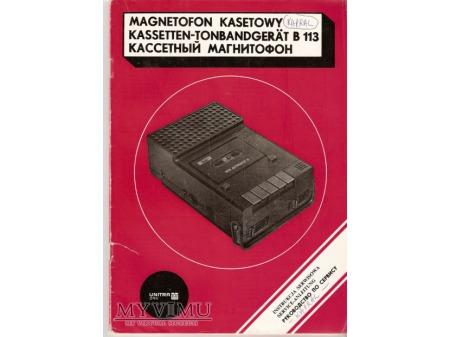 Instrukcja serwisowa magnetofonu B-113