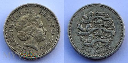 Wielka Brytania, 1 POUND 2002