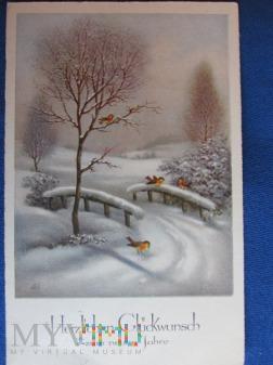 Noworoczna karta pocztowa-KWHW