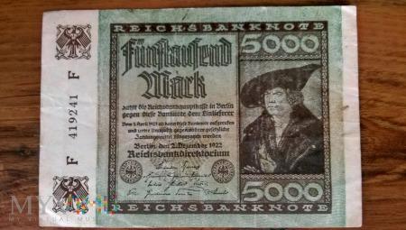 5000 mark 1922r.