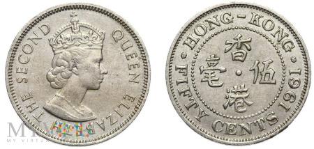 Hong Kong, 50 centów 1961
