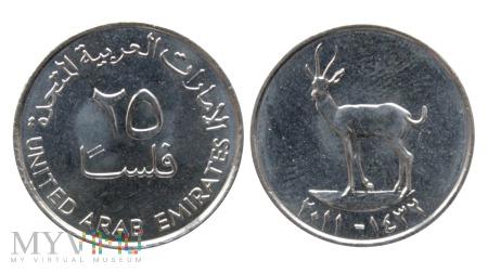 Zjednoczone Emiraty Arabskie, 25 Fils, 2011