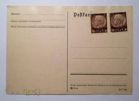 Kartka pocztowa Generalna Gubernia 12 Groszy, 1939
