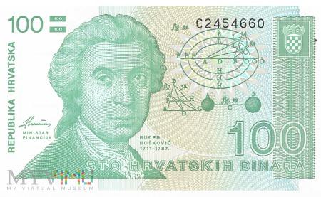 Chorwacja - 100 dinarów (1991)