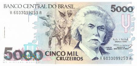 Brazylia - 5 000 cruzeiros (1993)