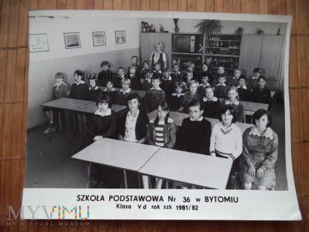 Szkoła Podstawowa nr 36 Bytom Klasa V - 1981 rok