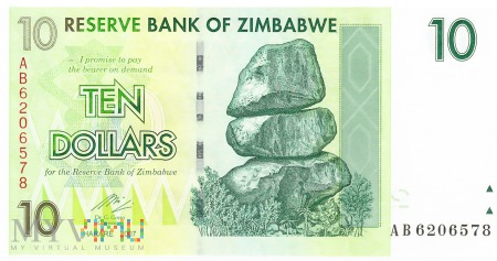 Zimbabwe - 10 dolarów (2007)
