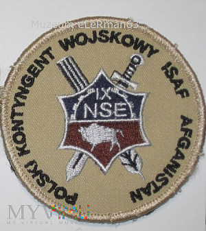 ISAF Afganistan IX zm. NSE. 10 OBLog.