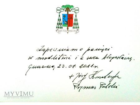 List od Abpa Józefa Kowalczyka - Prymasa Polski