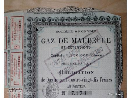 Obligacja gazowni w Maubeuge ???