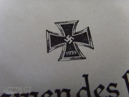 Nadanie Eisernes Kreuz 1939 I klasy