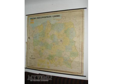 Mapa Rzeczypospolitej Ludowej