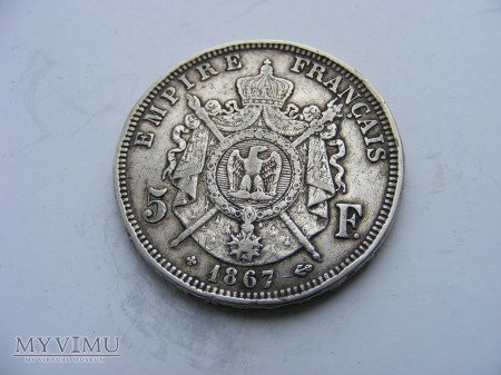 5 FRANKÓW - 1867 BB