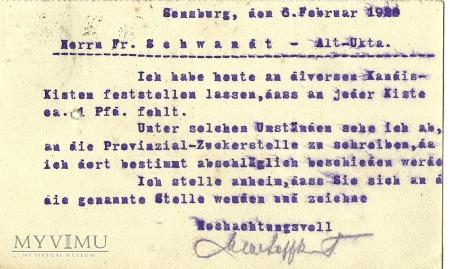 Max Leffkowitz - Sensburg - Alt Ukta - 1920 r.