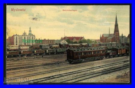 MYSŁOWICE Myslowitz , Dworzec kolejowy