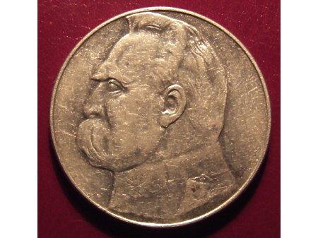 10 złotych z Józefem Piłsudskim