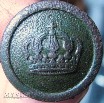 Pruski guzik wojskowy , sygnatura nieczytelna
