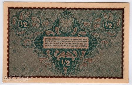 07.02.1920 - 1/2 Marki Polskiej