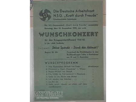 Zaproszenie na koncert 1941r.