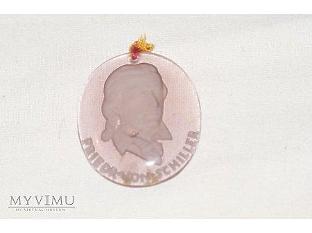 Szklany medalion WHW Friedrich von Schiller