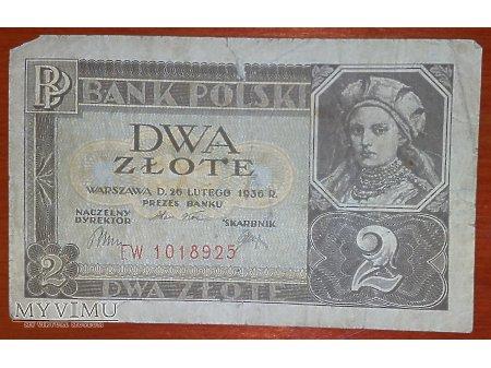 2 złote z 1936 r.